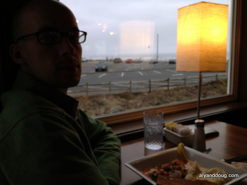 Back to Lincoln City for dinner with an ocean view.