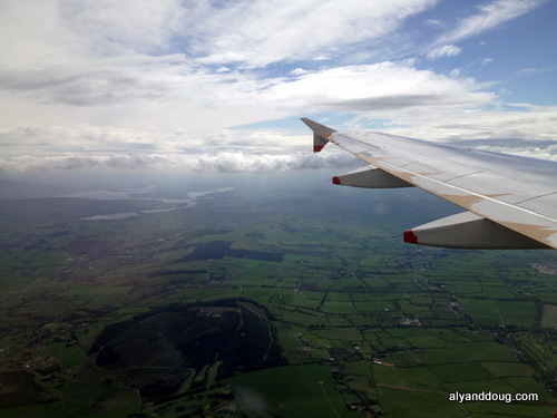 About to land in Dublin