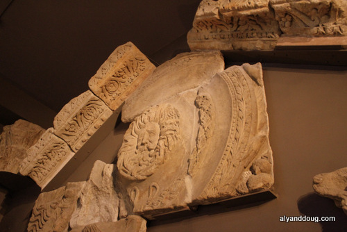 Gorgon's Head from original Roman Bath