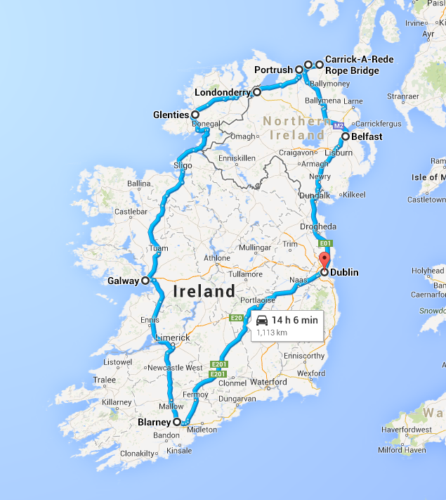 ireland route (mostly)